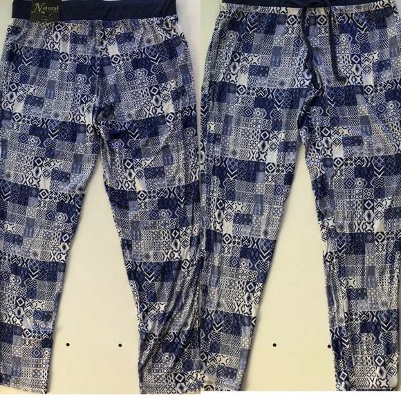 Natural Reflections Blue Jogger Pajama Pants
